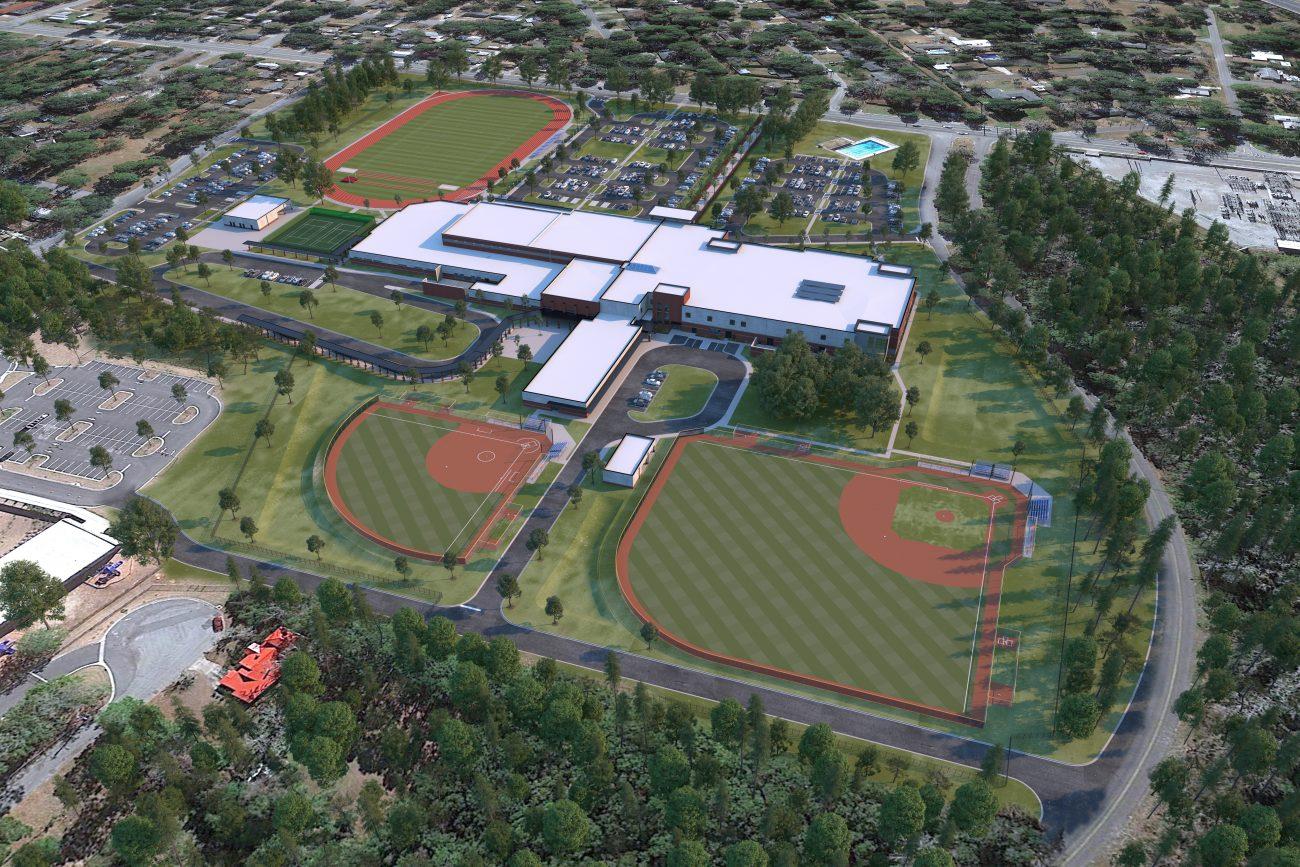 Site rendering of Jenkins High School