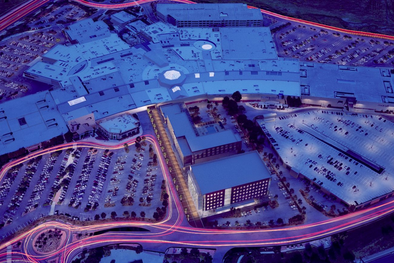 Site rendering of Proposed hotel at Roseville Mall