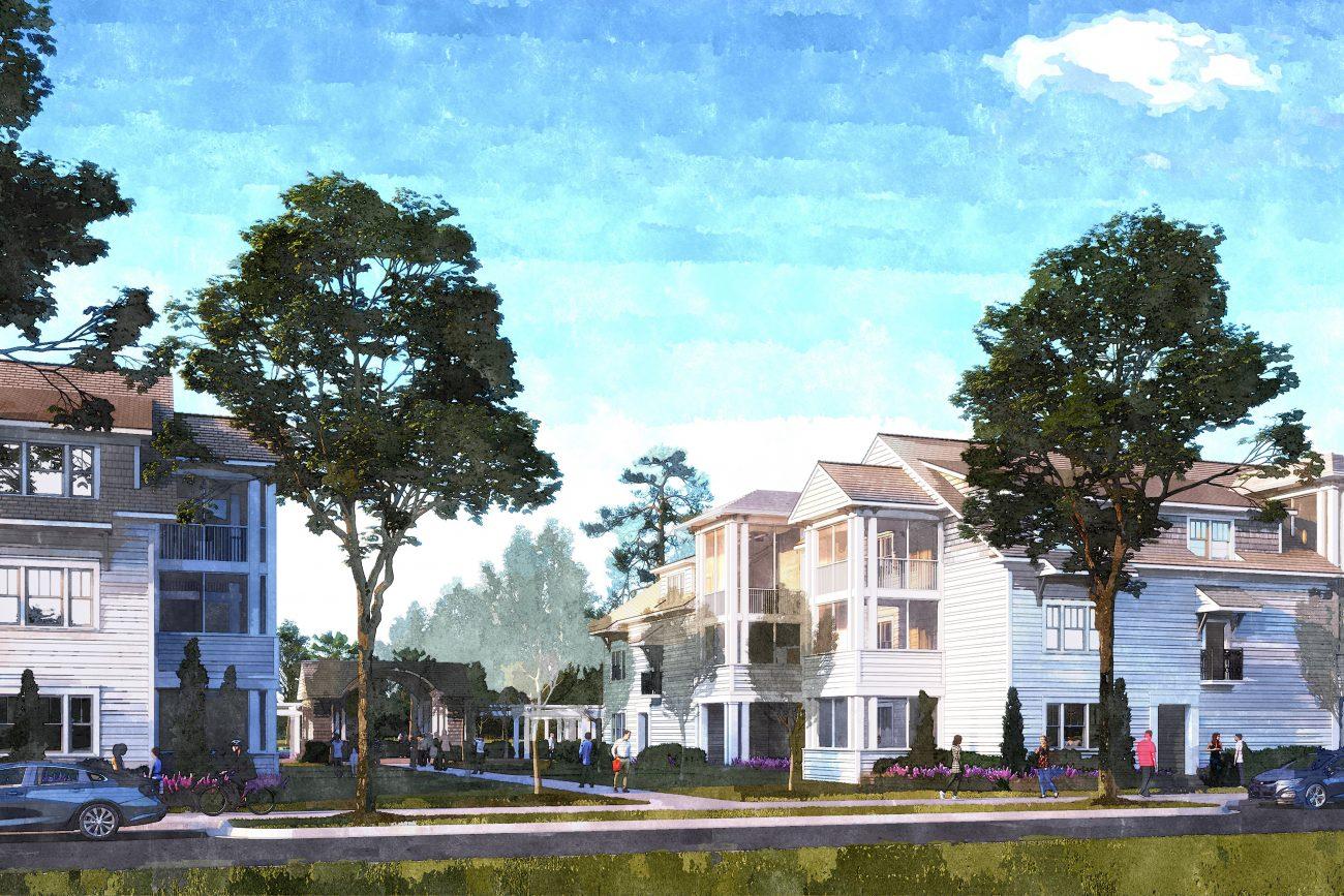 Exterior rendering of Origins Crossings Apartment Complex