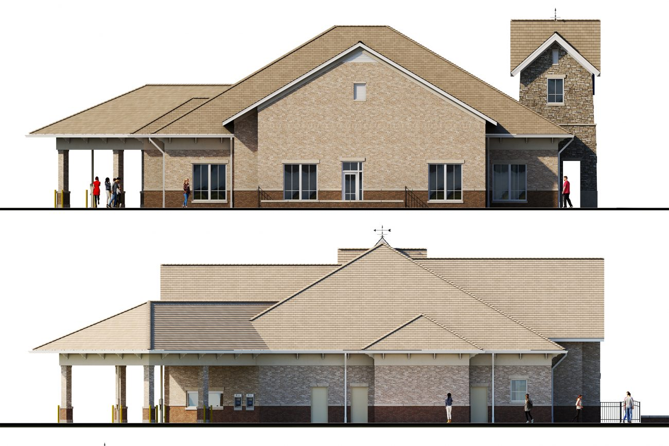 Elevations for River Bank & Trust