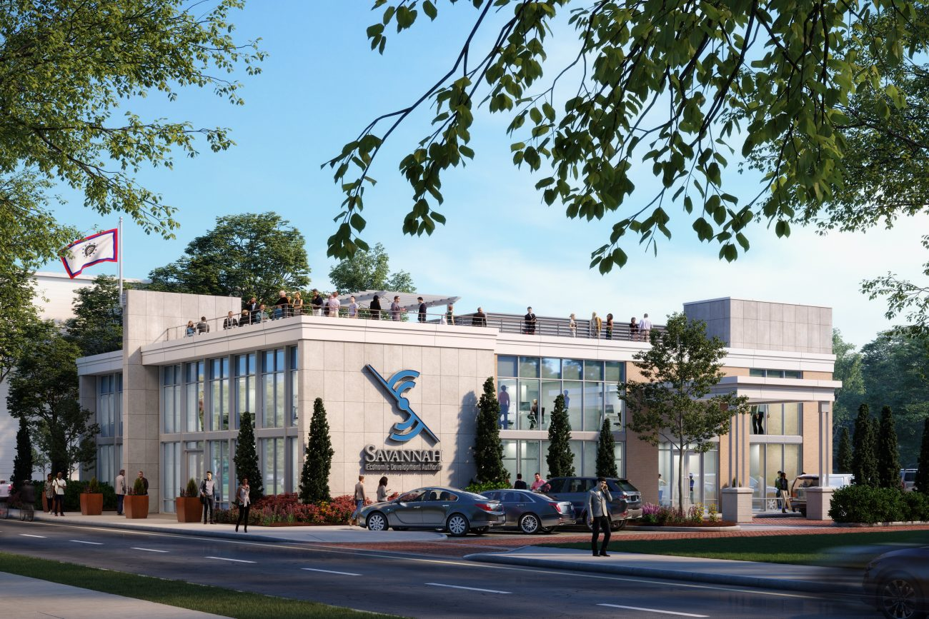Exterior rendering of Savannah Economic Development Authority