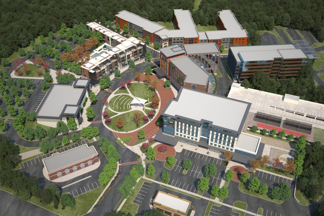 Site rendering of Mountain Brook Office Park