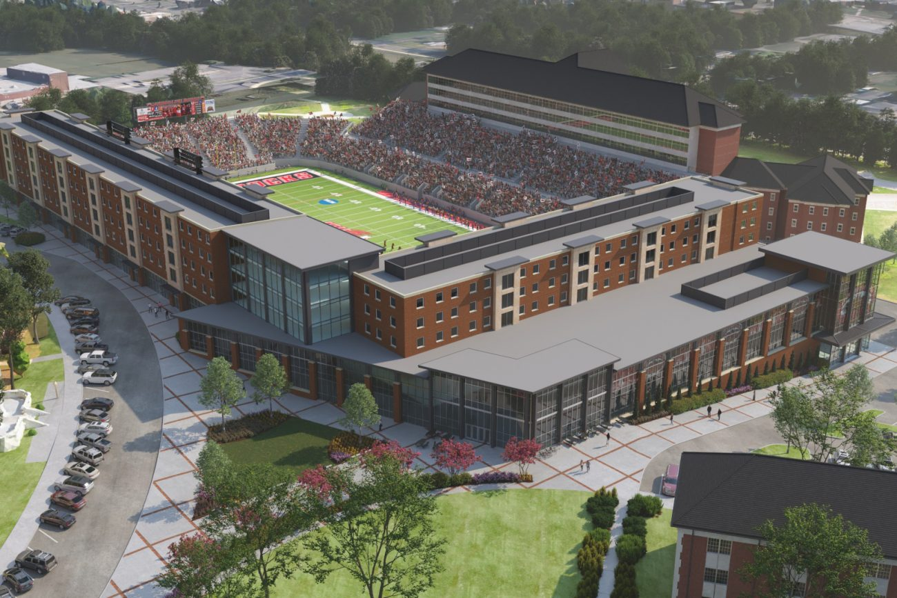Architectural Rendering of JSU Stadium