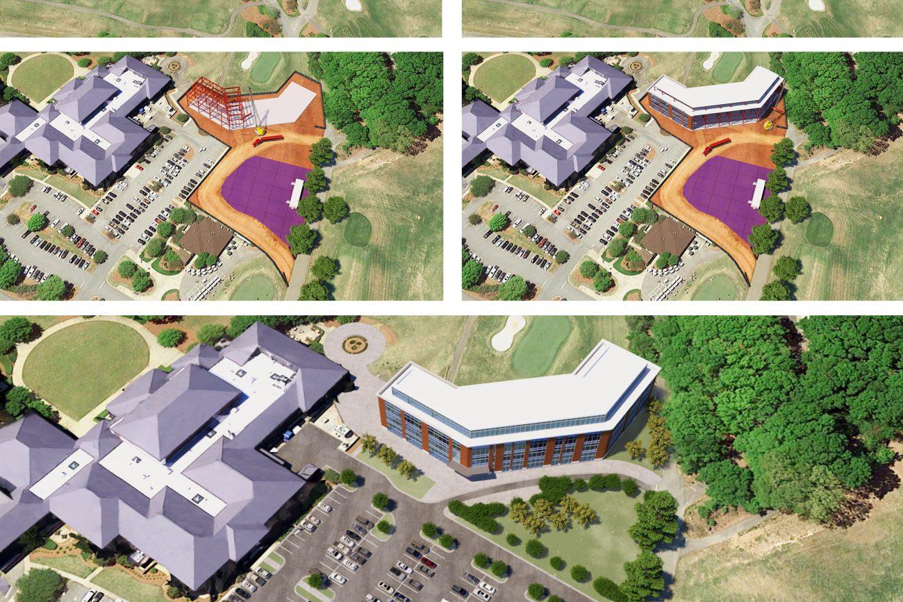 Phased Site Plan for Alumni Center at Clemson
