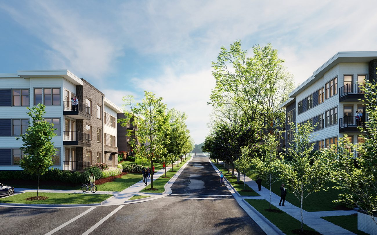 Exterior rendering of Solis Cameron Hills