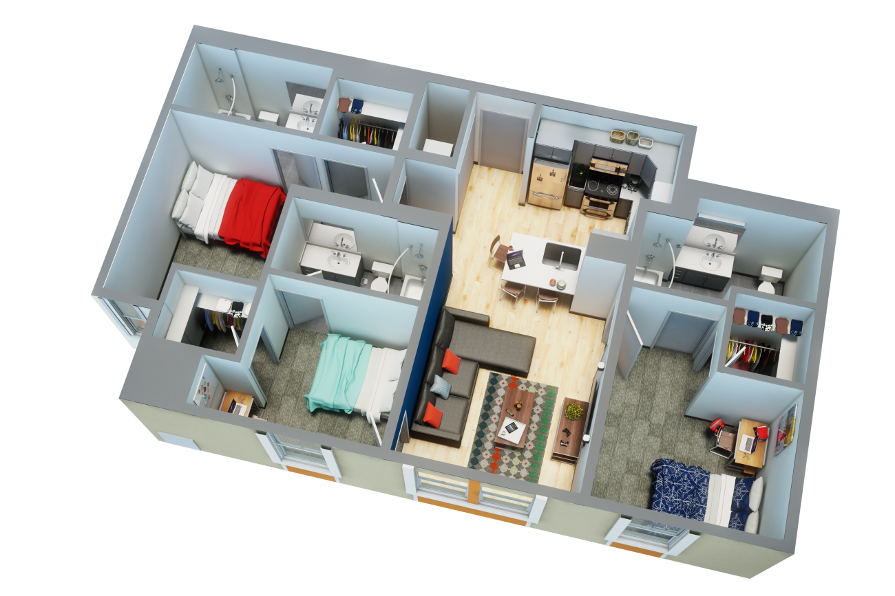 Uncommon Tampa Floor Plan by BLUELIME
