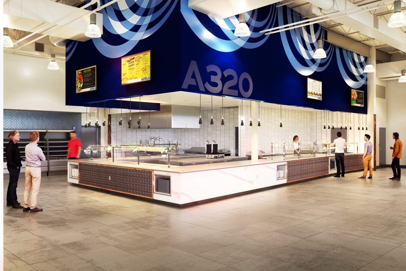 Interior of Airbus Canteen