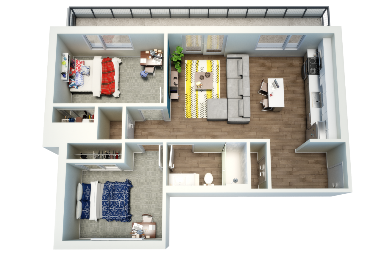 Uncommon Fort Collins Floorplan by BLUELIME