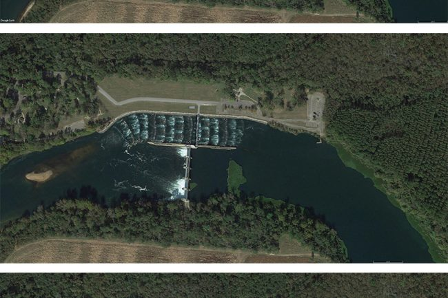Site Plan of Lock & Dam options