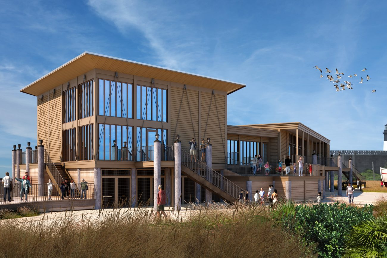 Exterior Architectural Rendering of Tybee Island Marine Science Center