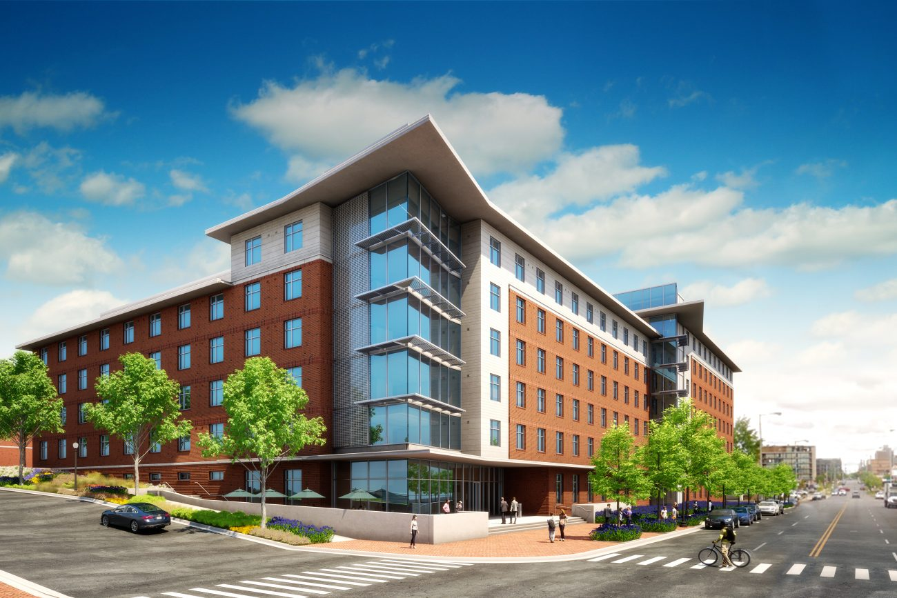 Exterior Rendering of UAB Residence Hall
