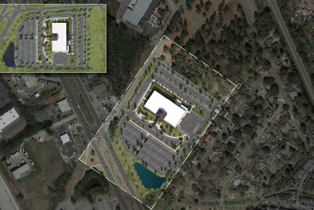 3D Site Plan of VA Charleston