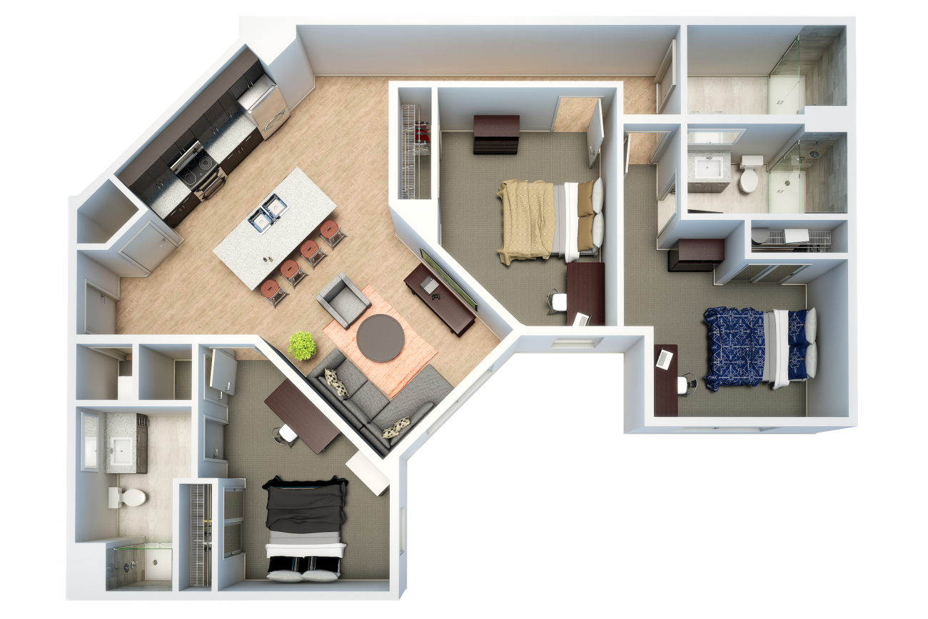 Modeled Floorplan for Evolve Auburn