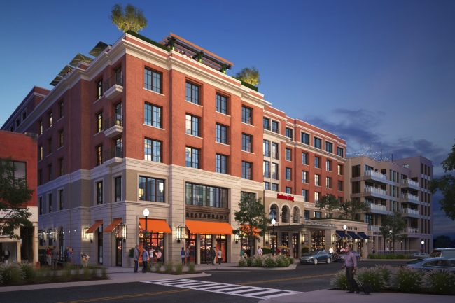 Rendering or Proposed Auburn Hotel